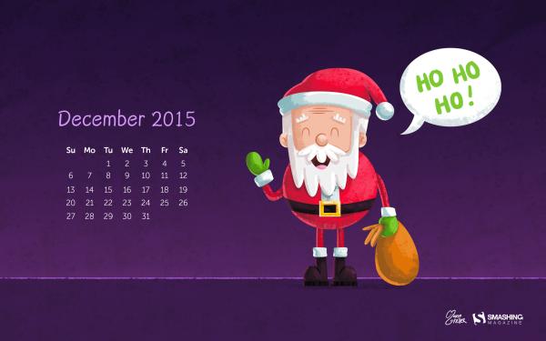 Holiday Christmas Santa Calendar HD Wallpaper | Background Image
