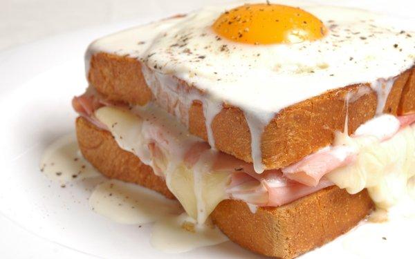Food Croque Madame Egg Sandwich HD Wallpaper | Background Image