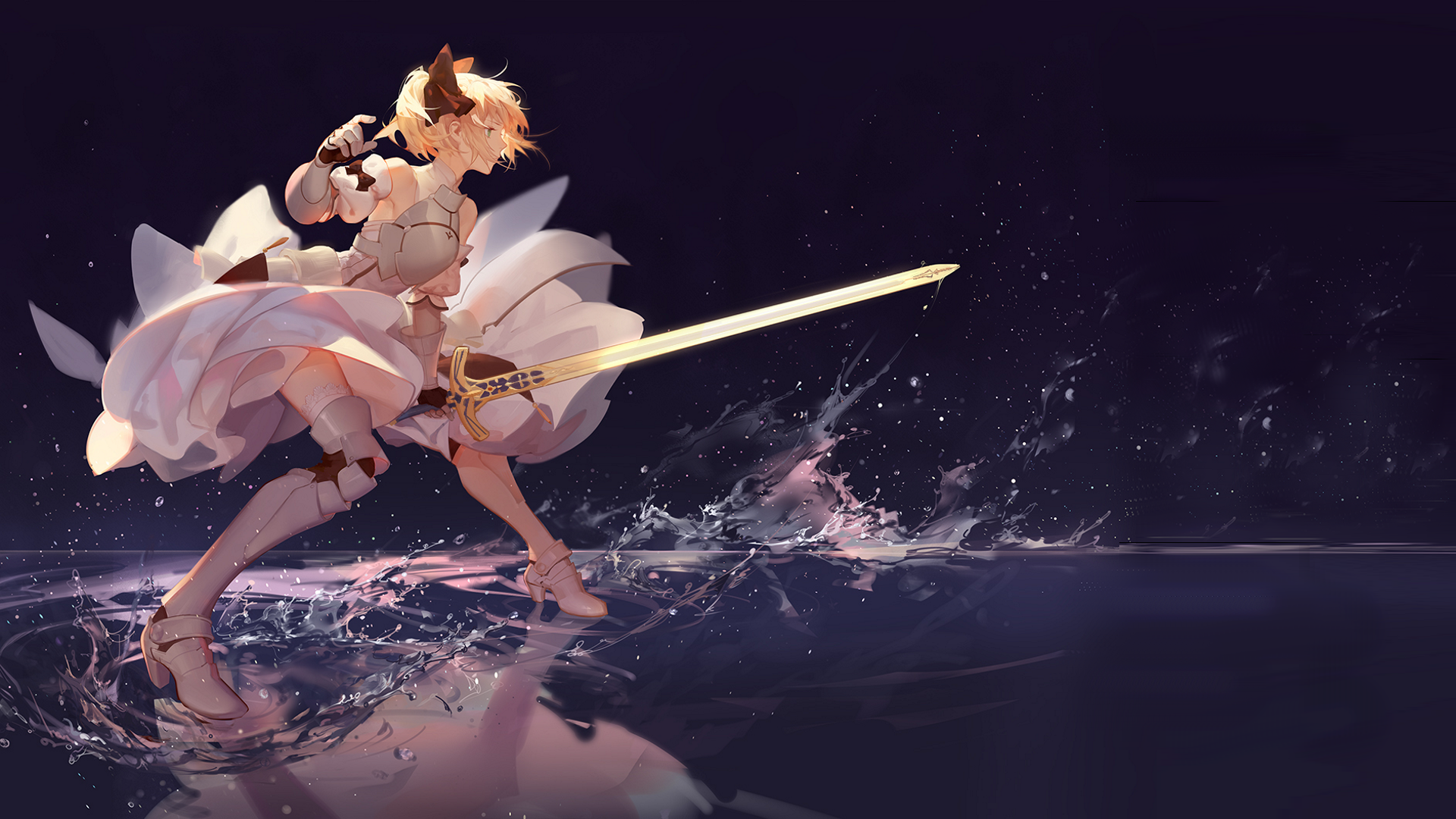 Saber Lily Hd Wallpaper Background Image 1920x1080 Id