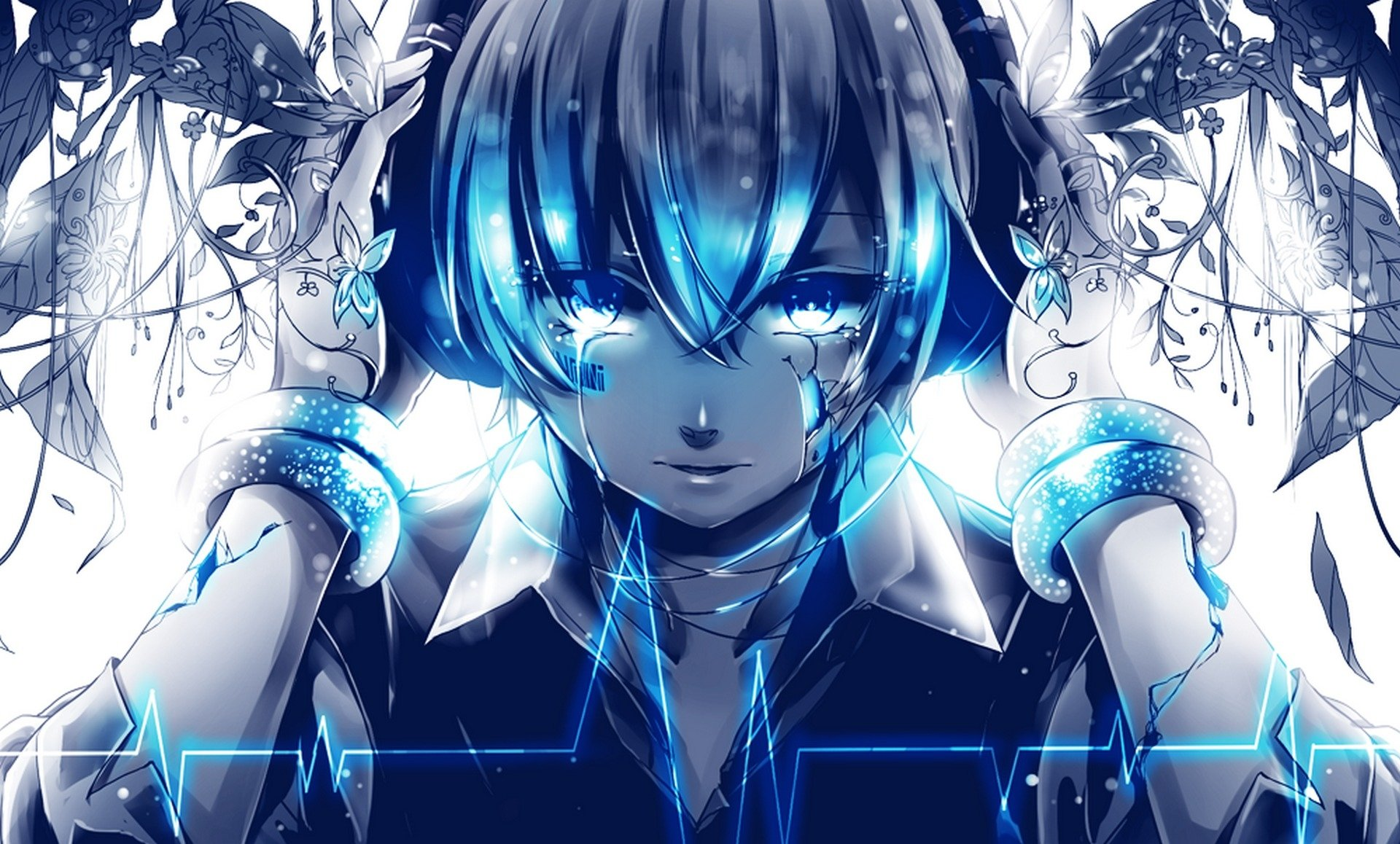 Vocaloid full hd wallpaper and background image - Blue anime wallpaper ...
