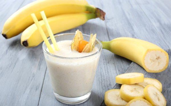 Food Banana Fruits Milk Cocktail HD Wallpaper | Background Image