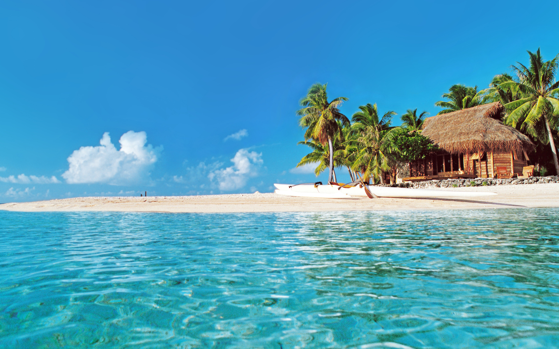 Hut on Tropical Beach HD Wallpaper | Background Image | 1920x1200 | ID:673731 - Wallpaper Abyss