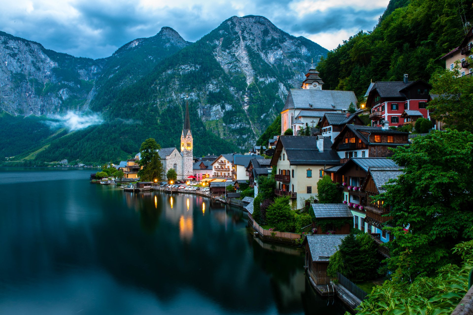 Man Made - Hallstatt  Man Made Village Town Austria Wallpaper
