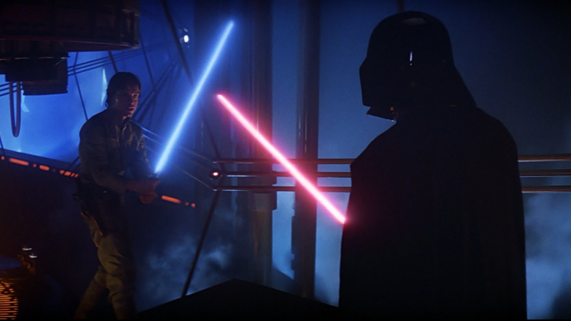 Movie - Star Wars Episode V: The Empire Strikes Back  Darth Vader Luke Skywalker Lightsaber Wallpaper