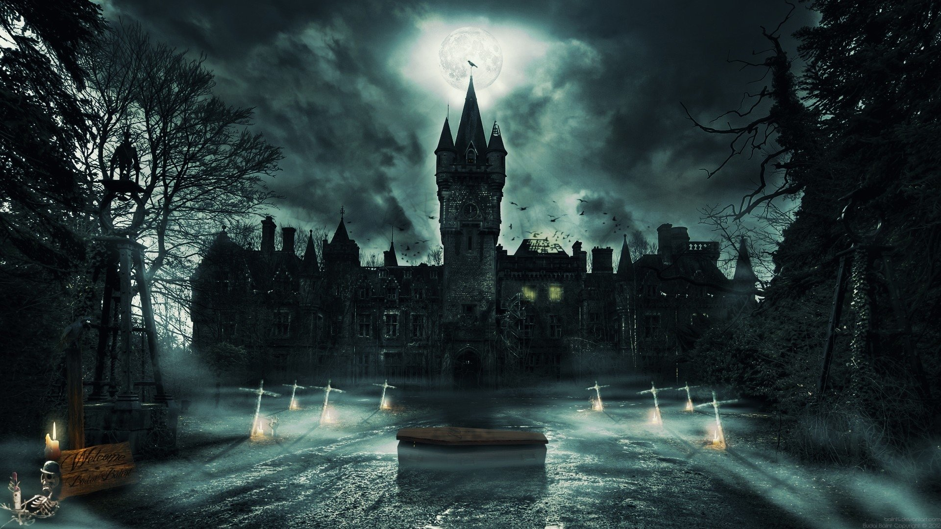 Gothic Castle HD Wallpaper | Background Image | 1920x1080 ...