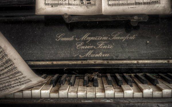 Music Piano Sheet Music Close-Up HD Wallpaper | Background Image