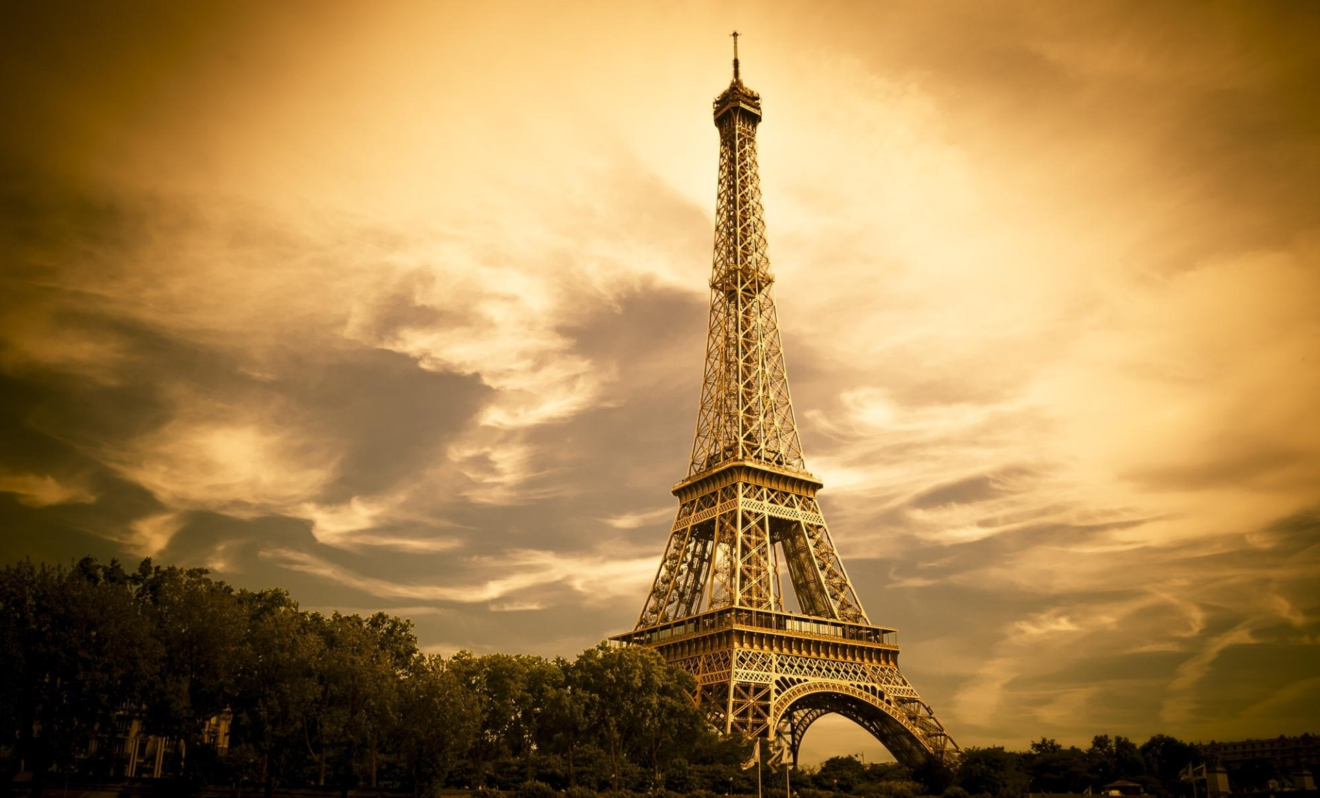 Eiffel tower hd wallpaper background image 2000x1209 - Paris eiffel tower desktop wallpaper ...