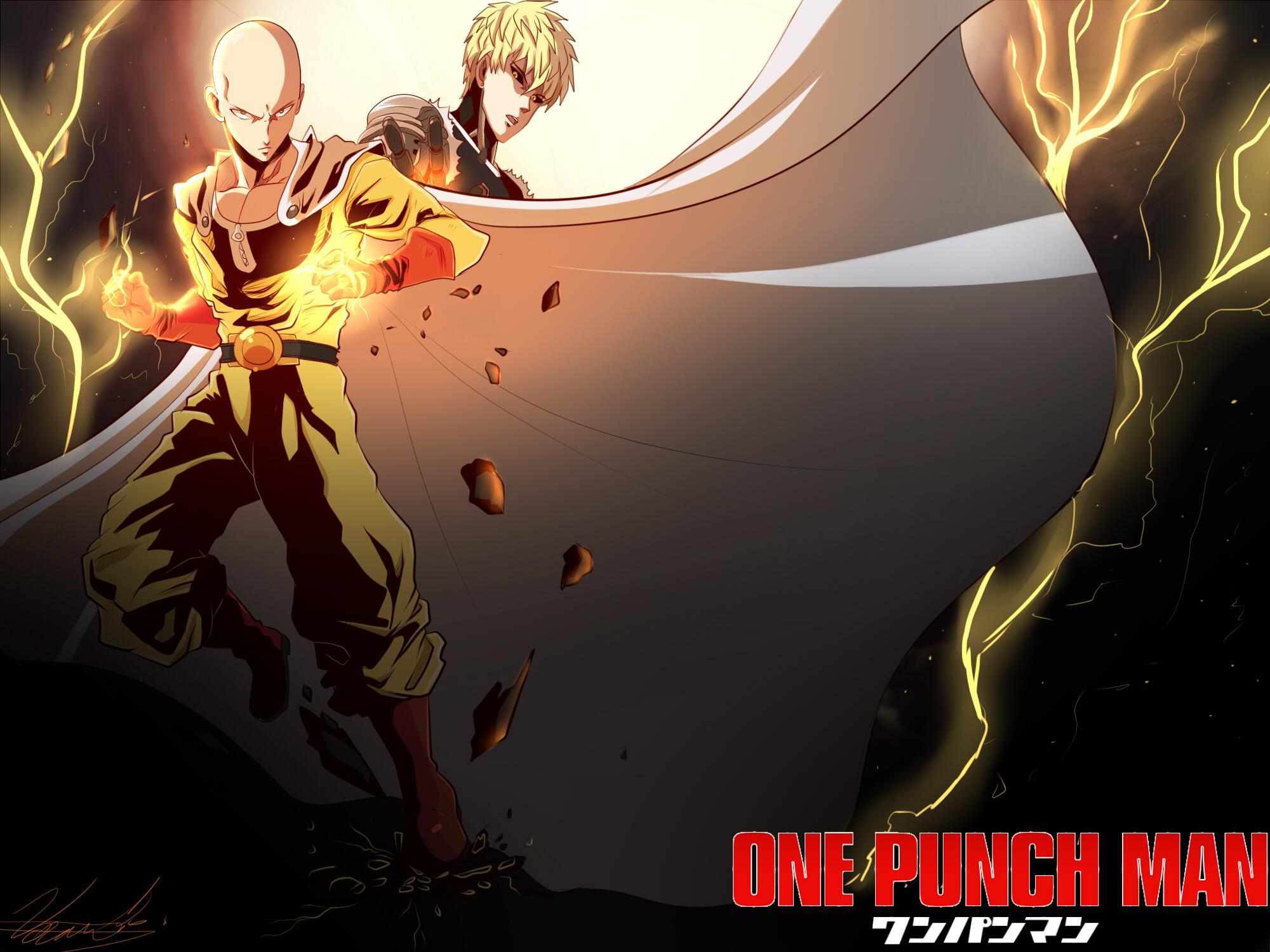 One Punch Man Saitama And Genos - Saitama and Genos HD Wallpaper | Background Image ...