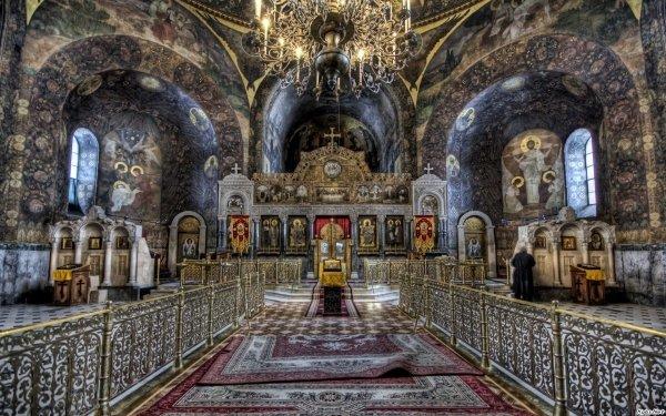 Fotografía HDR Religious Catedral Altar Chandelier Cruz Fondo de pantalla HD | Fondo de Escritorio