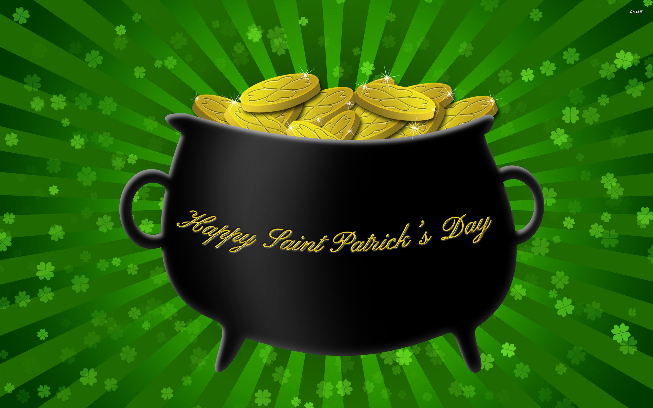 St Patrick's Day Pot Of Gold HD Wallpaper