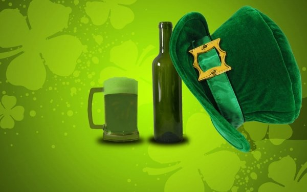 Holiday St. Patrick's Day Hat Beer HD Wallpaper | Background Image
