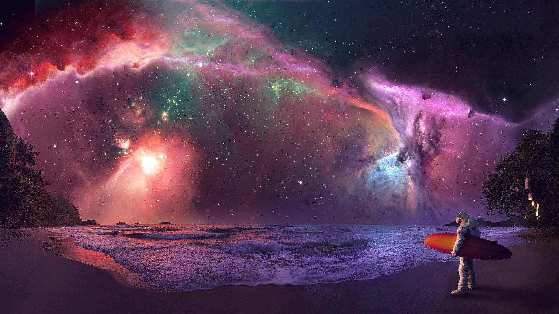wallpapers trippy astronaut surfer - photo #1