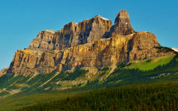 Earth Mountain Mountains Alberta Canada Forest Nature Cliff HD Wallpaper | Background Image