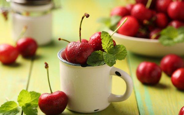 Food Cherry Fruits Berry Fruit Mug HD Wallpaper | Background Image