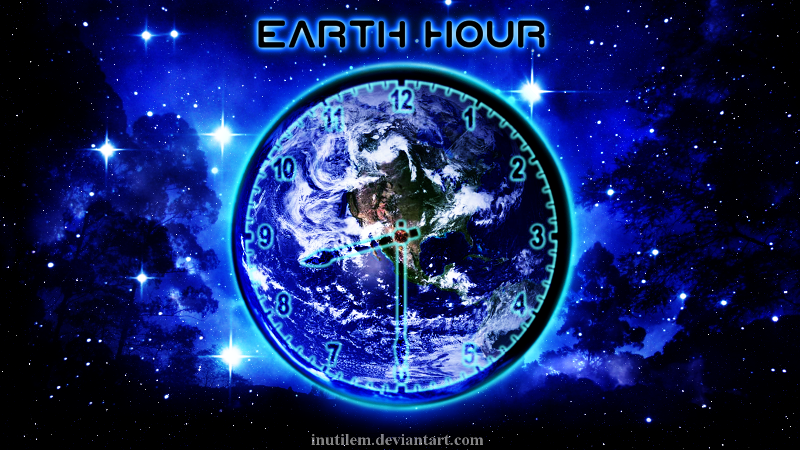Holiday - Earth Day  Earth Clock Wallpaper