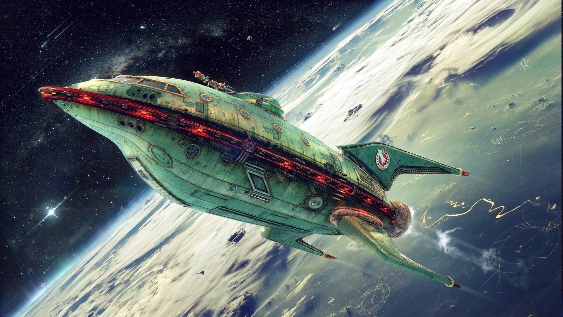 TV Show - Futurama  Spaceship Wallpaper