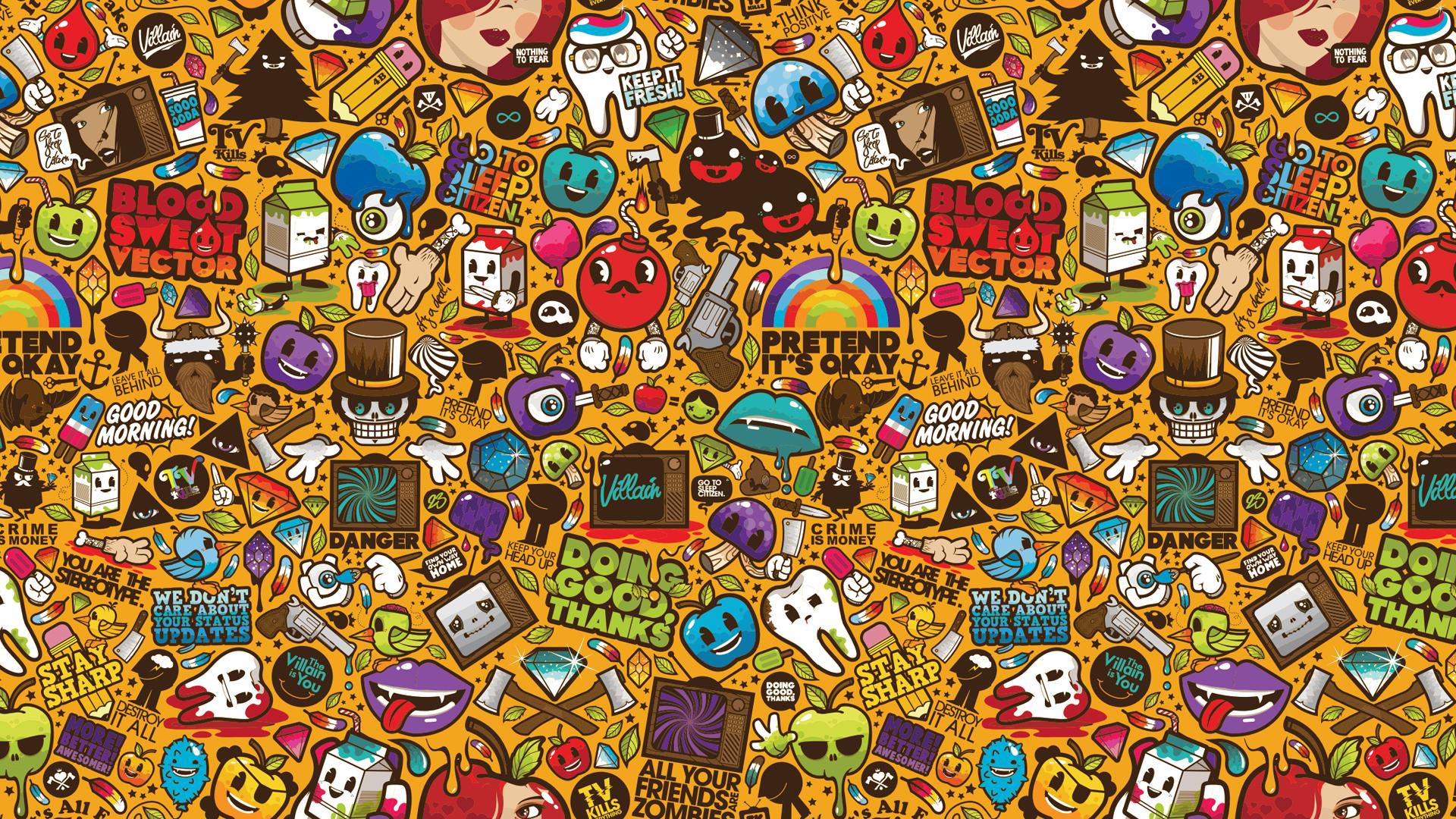 Sticker bomb hd wallpaper background image 1920x1080 id690862 wallpaper abyss