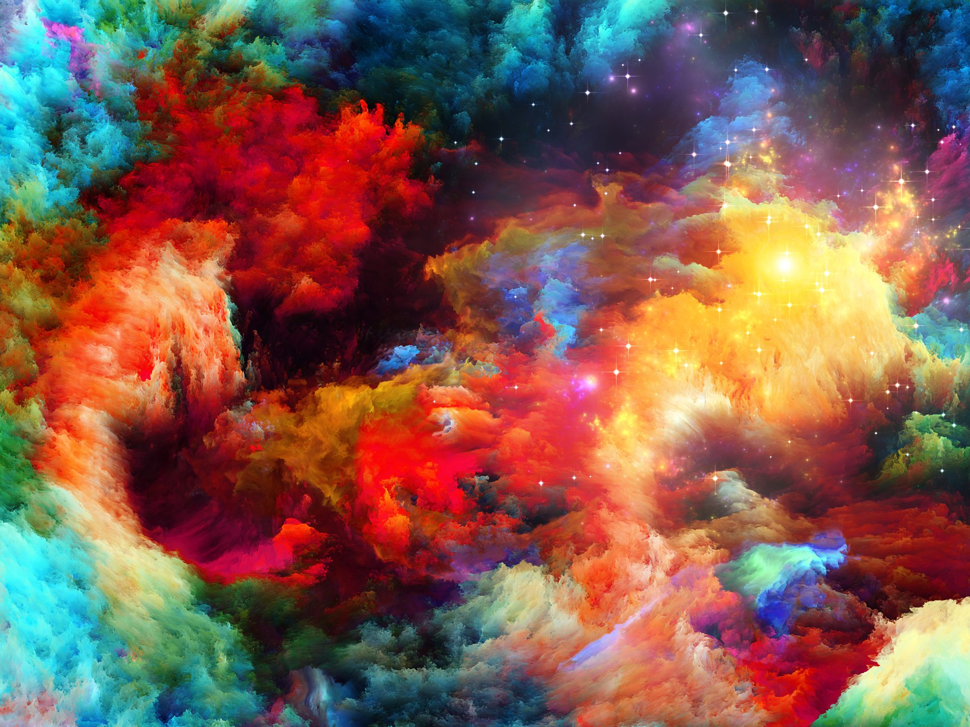 Abstract - Smoke  Abstract Colors Colorful Sparkles Wallpaper