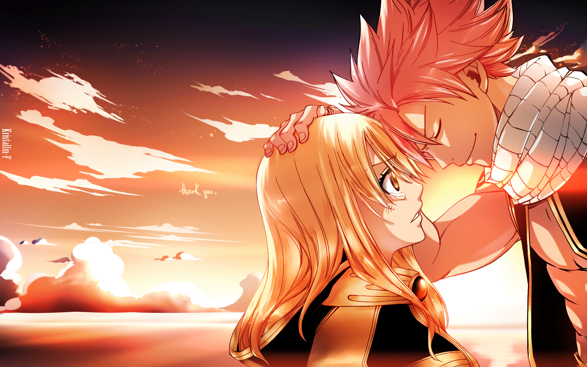 Fairy tail anime natsu and lucy