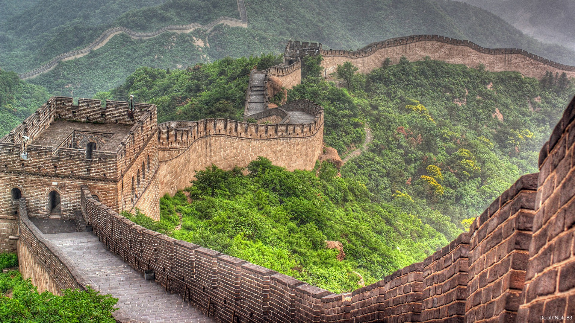 The Great Wall Of China Hd Wallpaper Background Image 1920x1080