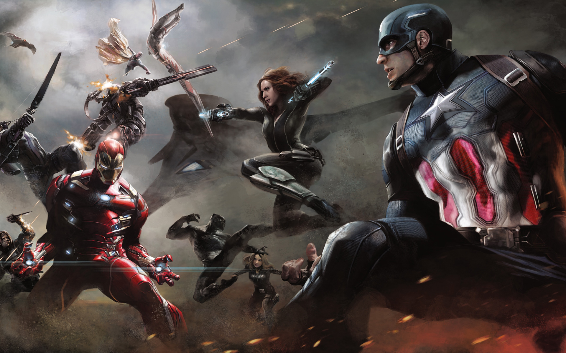 Capitán América Civil War Fondo De Pantalla Hd Fondo De