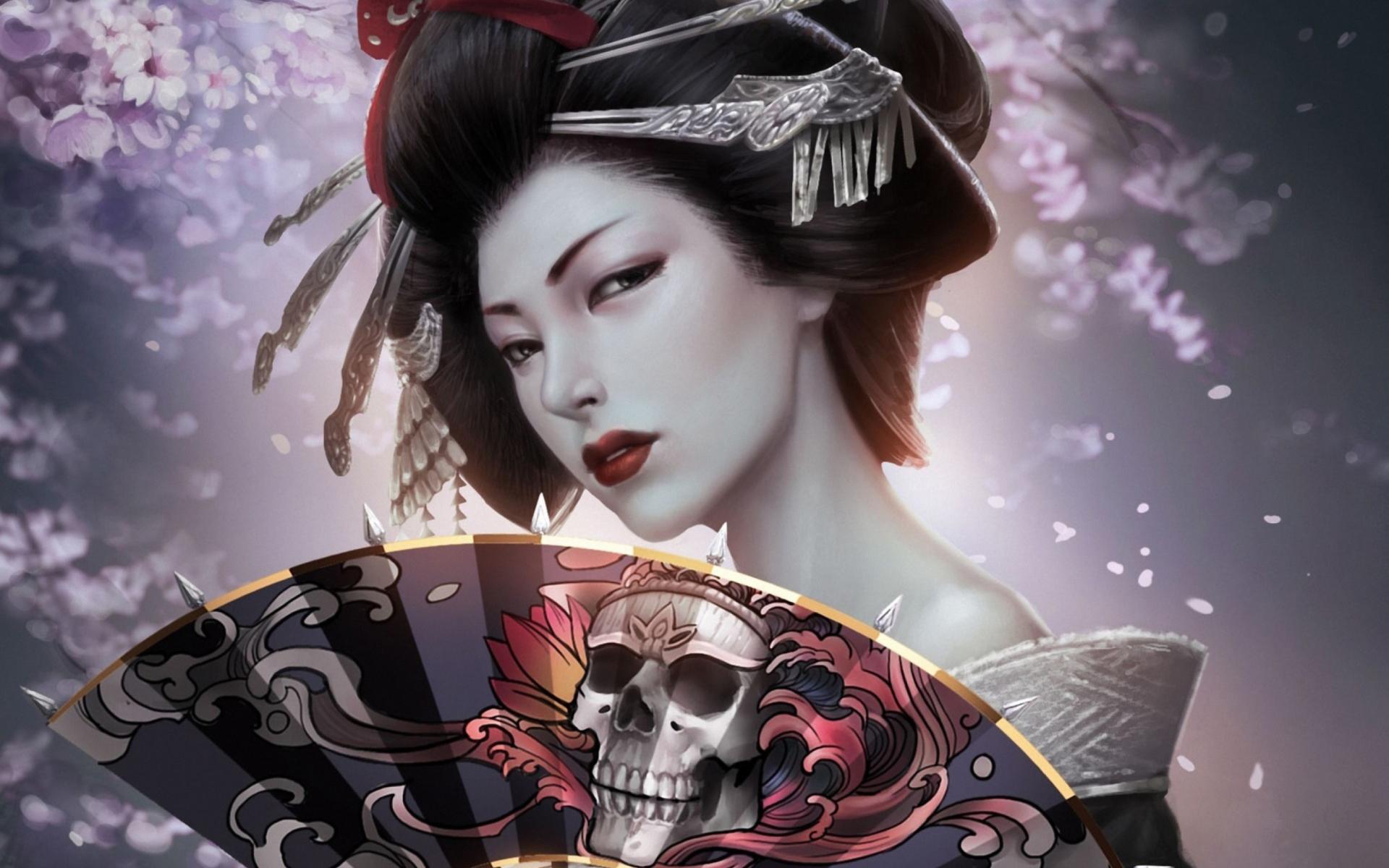 wallpaper geisha corals girl - photo #21