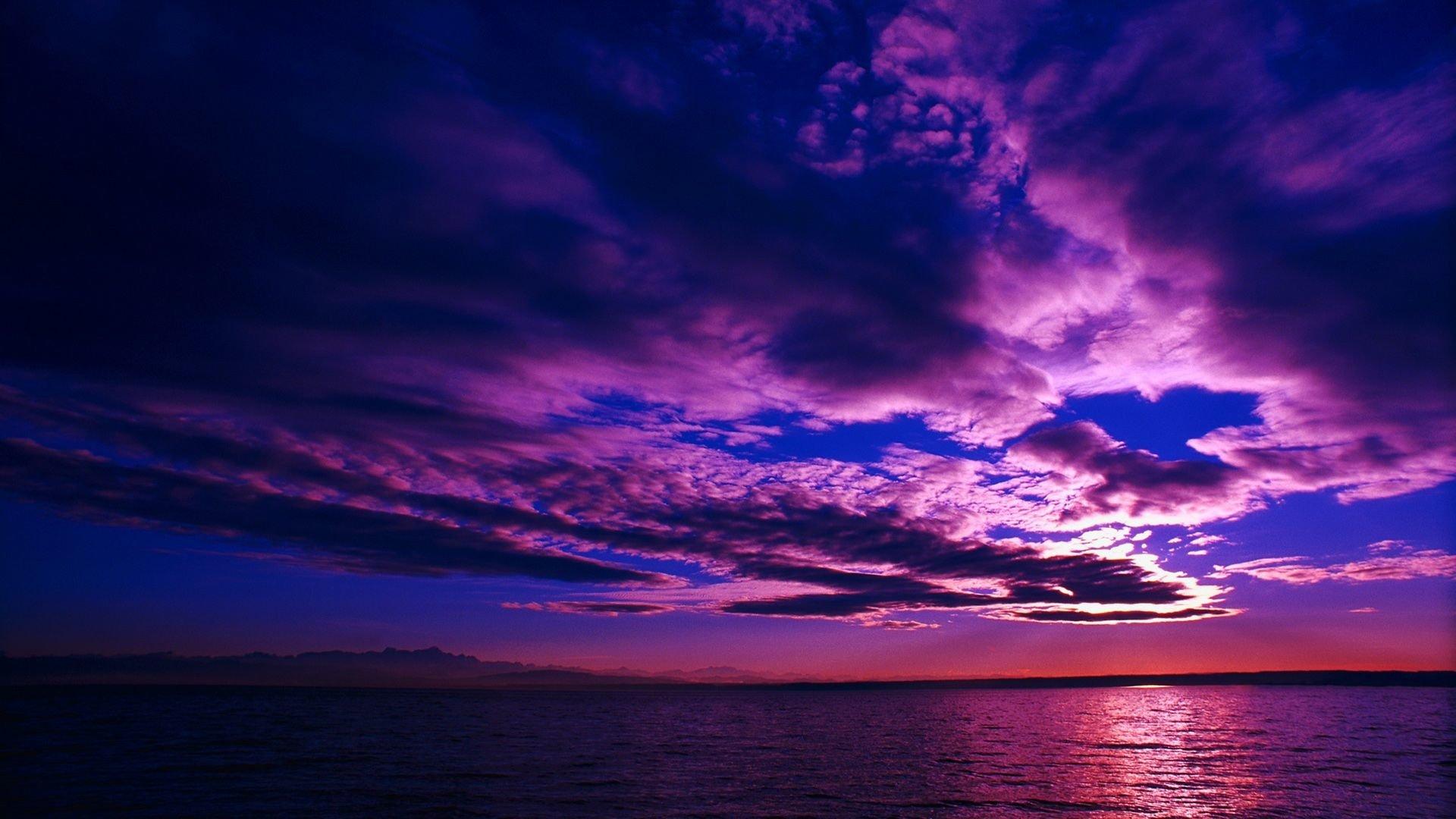 Purple Sunset Sky Hd Wallpaper Background Image 1920x1080 Id 692589 Wallpaper Abyss