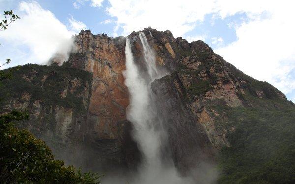 Earth Angel Falls Waterfalls Waterfall Cliff Venezuela Mountain HD Wallpaper | Background Image