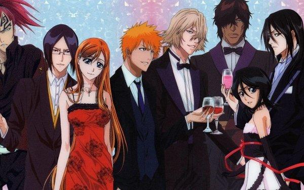 Anime Bleach Ichigo Kurosaki Orihime Inoue Rukia Kuchiki Yasutora Sado Renji Abarai Uryu Ishida HD Wallpaper | Background Image