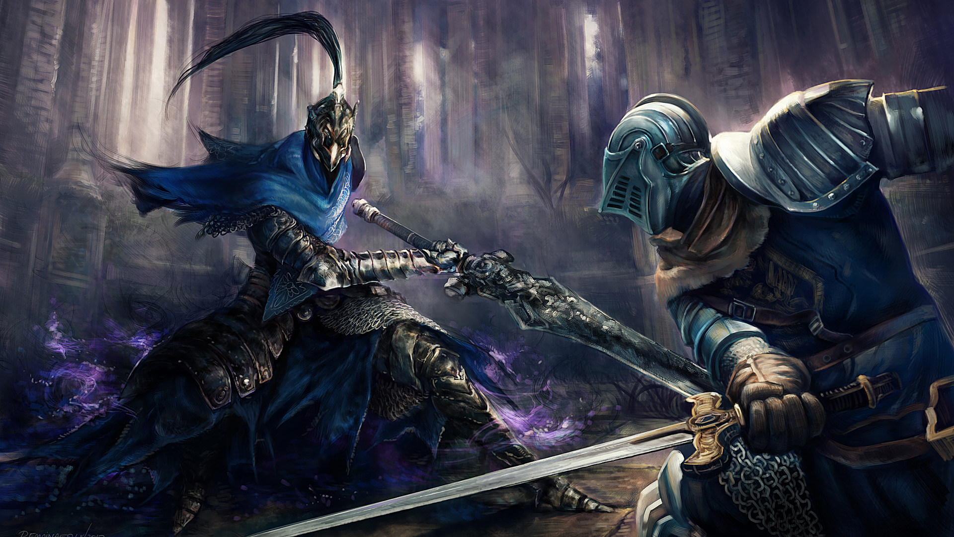 Dark Souls Background 1920x1080: Artorias Of The Abyss Duel Full HD Wallpaper And
