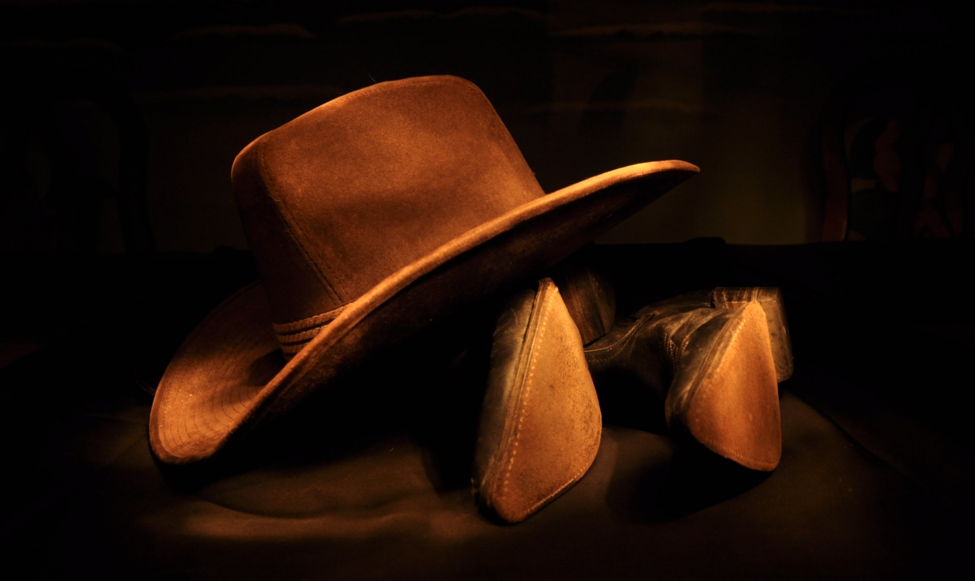 cowboy hat and cowboy boots full hd wallpaper and