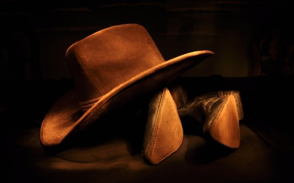 Photography Cowboy Hat Boots Man Made Still Life HD Wallpaper | Background Image