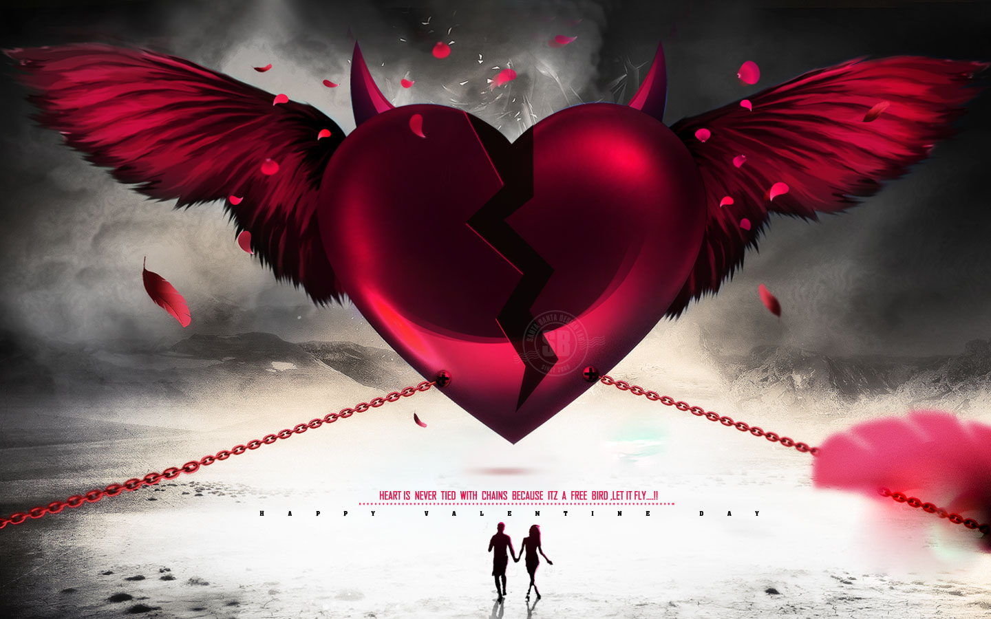 Love Broken couple Wallpaper : Broken Heart Wallpaper and Background 1440x900 ID:696601