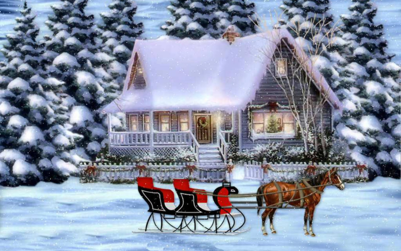 Winter Holiday Scene Wallpaper And Background Image 1680x1050 Id 696782 Wallpaper Abyss
