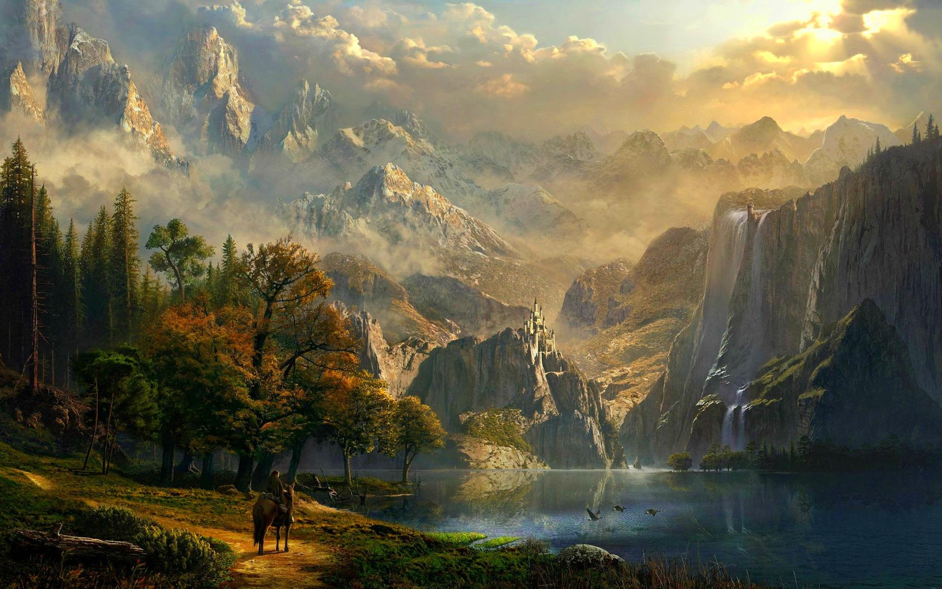 Landscape hd wallpaper background image 1920x1200 id - Fantasy desktop pictures ...