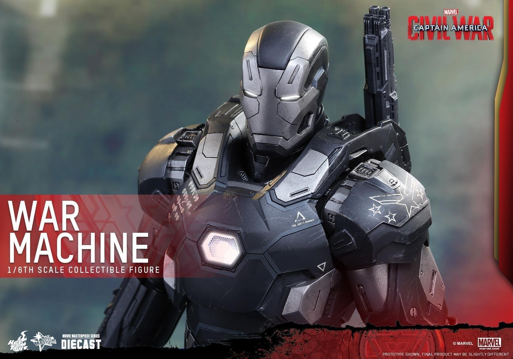 Filmy - Kapitan Ameryka: Wojna Bohaterów  Superhero Marvel Comics War Machine Figurine Tapeta