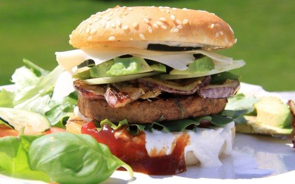 Alimento Hamburguesa Hamburger Lunch Comida Ensalada Fondo de pantalla HD | Fondo de Escritorio