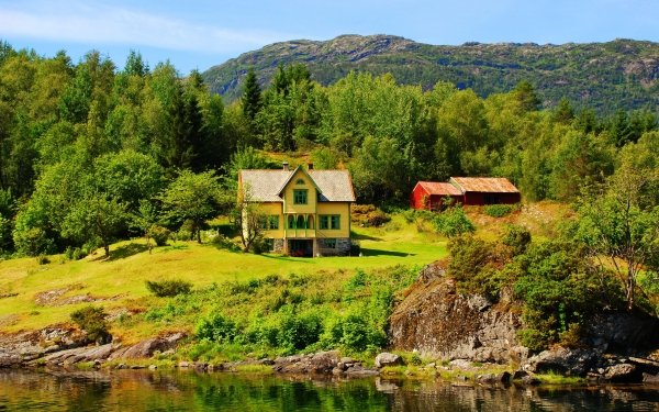 Man Made House Buildings Barn Norway HD Wallpaper | Background Image