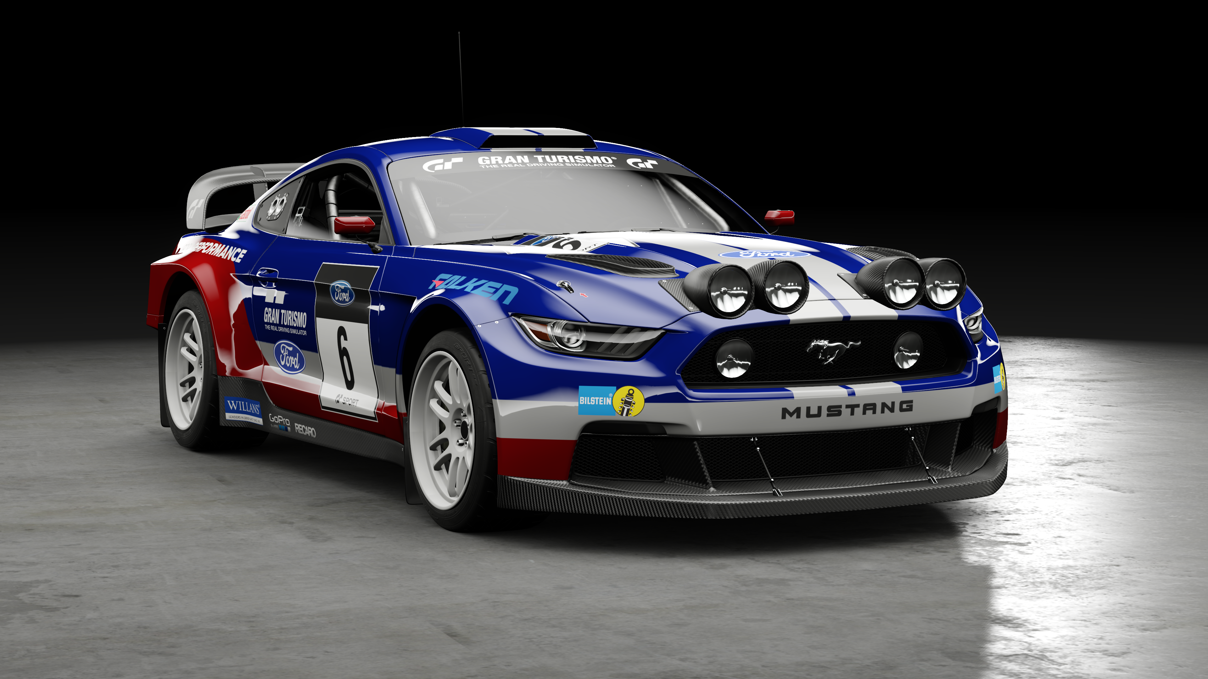 Wallpaper Mobil Sport Mustang: Ford Mustang GT Group B Rally Car 4k Ultra HD Wallpaper