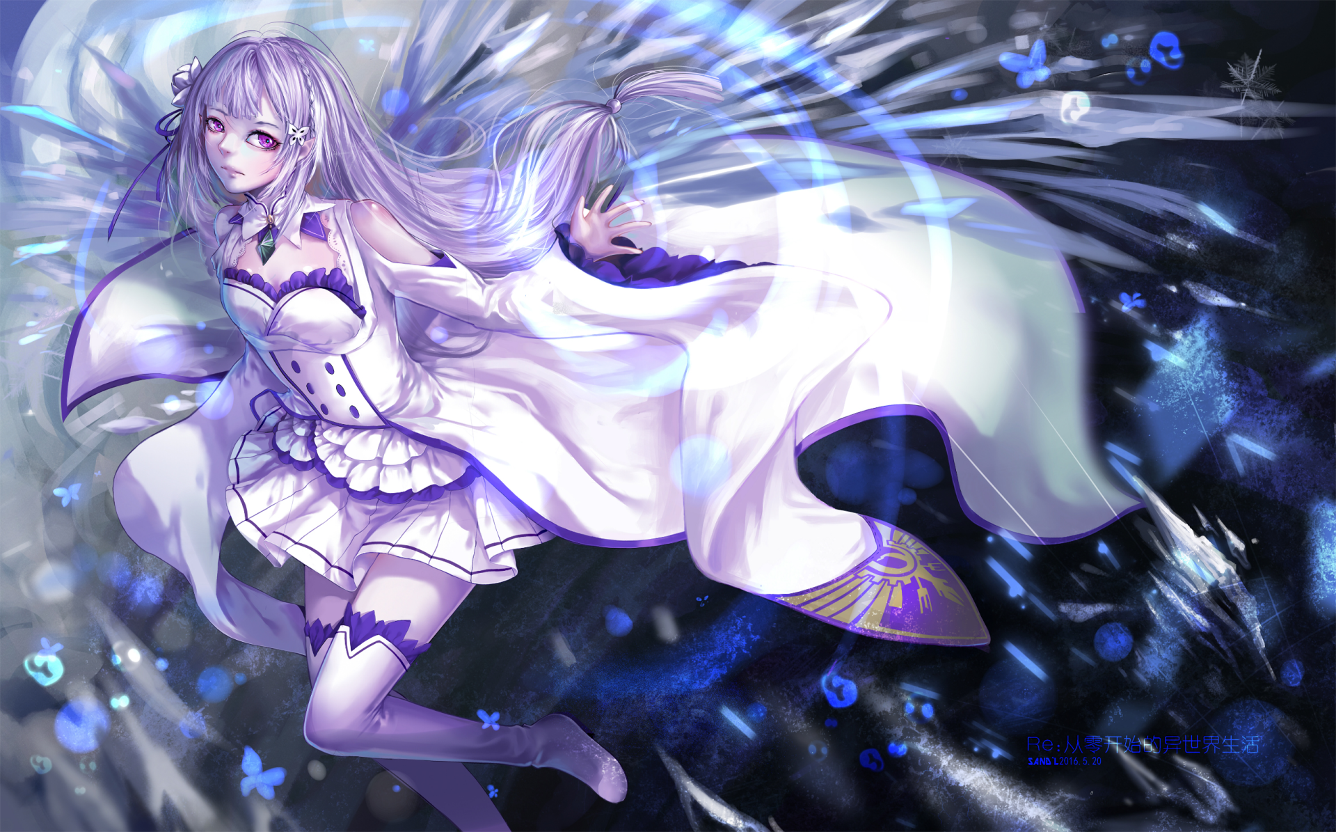 Anime - Re:ZERO -Starting Life In Another World-  Emilia (Re:ZERO) Re:Zero Wallpaper