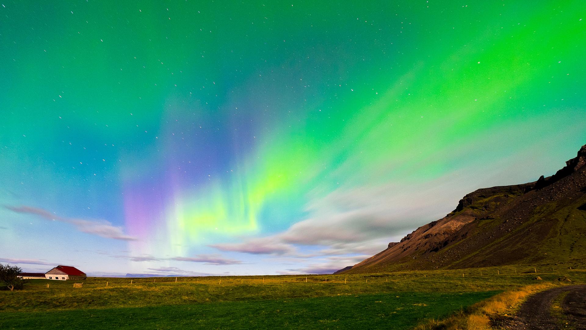 Aurora borealis full hd sfondo and sfondi 1920x1080 id for Aurora boreale sfondo