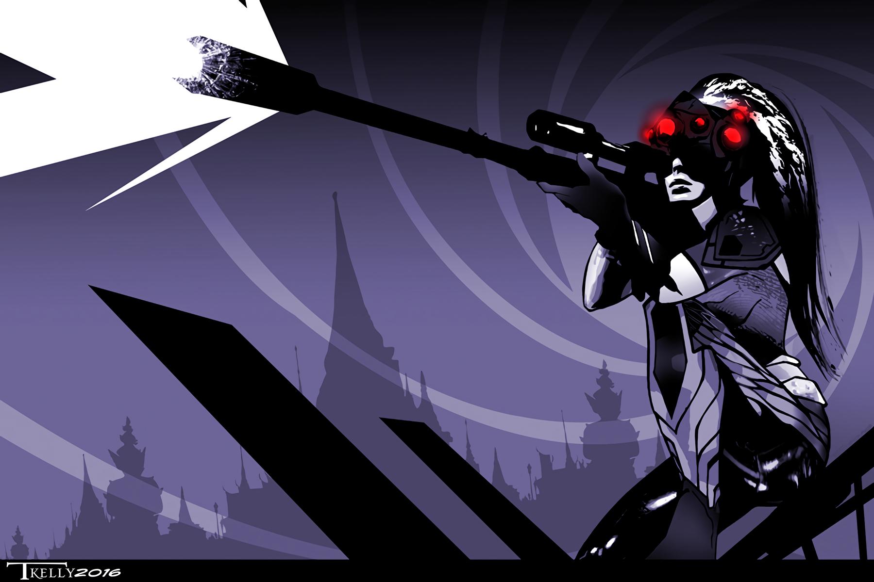 电子游戏 - 守望先锋  Widowmaker (Overwatch) 壁纸