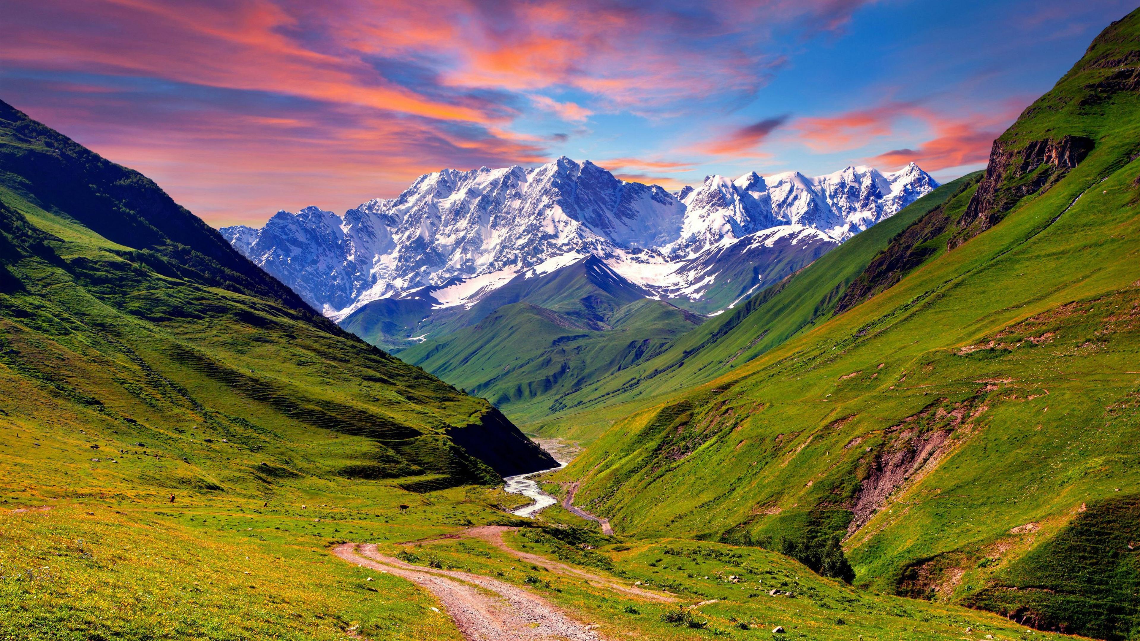 Mountain sunset 4k ultra hd fond d 39 cran and arri re plan for Fond ecran photo 4k