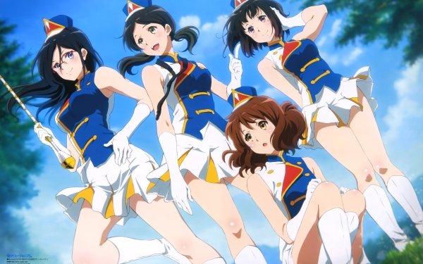 Anime Sound! Euphonium Kumiko Oumae Asuka Tanaka Haruka Ogasawara Kaori Nakaseko HD Wallpaper | Background Image