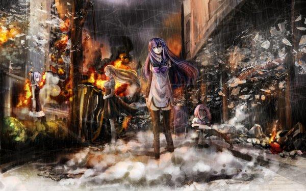 Anime Gokukoku no Brynhildr Mako Fujisaki Kazumi Schlierenzauer Neko Kuroha Kana Tachibana Kotori Takatori Nanami Tokou HD Wallpaper   Background Image