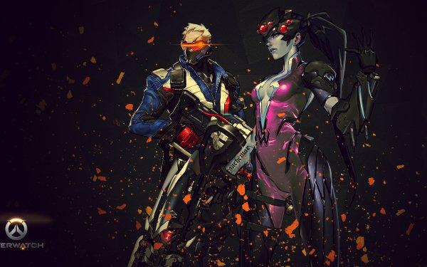 Video Game Overwatch Widowmaker Soldier: 76 HD Wallpaper   Background Image