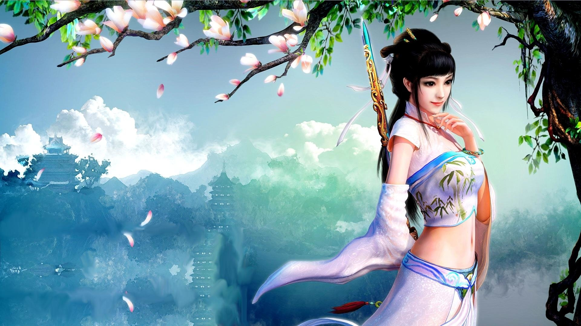 Fantasy Girl Hd Wallpaper Background Image 1920x1080 Id