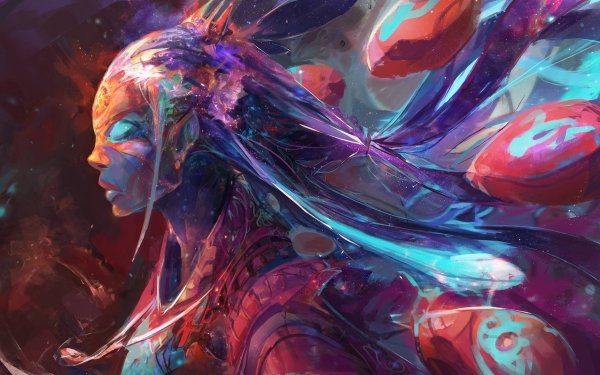 Fantasy Women Colorful HD Wallpaper | Background Image