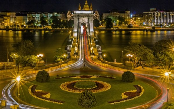Man Made Chain Bridge Bridges Bridge Budapest City Hungary HD Wallpaper   Background Image