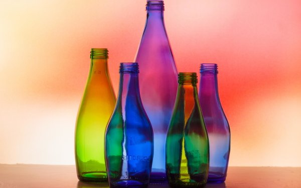 Man Made Bottle Glass Colors Colorful HD Wallpaper | Background Image